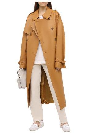 Женские кожаные кеды valentino garavani rockstud VALENTINO бронзового цвета, арт. UW0S0A01/HEL | Фото 2