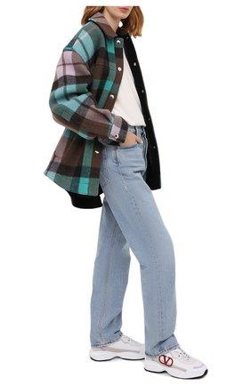 Женские кожаные кроссовки valentino garavani shegoes VALENTINO сиреневого цвета, арт. UW0S0AB1/KCX | Фото 2