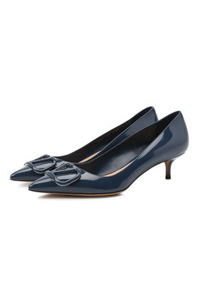 Кожаные туфли Valentino Garavani VLOGO | Фото №1