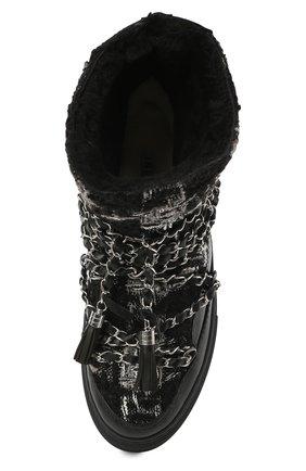 Женские комбинированные сапоги INUIKII черного цвета, арт. 70202-53 | Фото 5