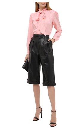 Женская шелковая блузка SAINT LAURENT розового цвета, арт. 641593/Y7B25   Фото 2