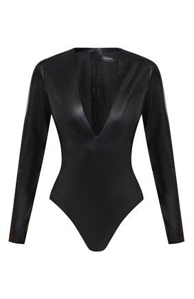 Женское боди SAINT LAURENT черного цвета, арт. 636723/Y7B08 | Фото 1