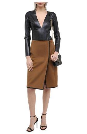 Женское боди SAINT LAURENT черного цвета, арт. 636723/Y7B08 | Фото 2