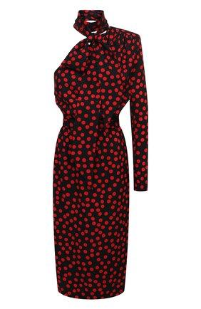 Женское шелковое платье SAINT LAURENT разноцветного цвета, арт. 635722/Y8B07 | Фото 1