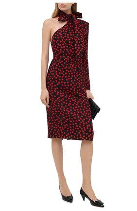 Женское шелковое платье SAINT LAURENT разноцветного цвета, арт. 635722/Y8B07 | Фото 2