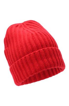 Женский кашемировая шапка LORO PIANA красного цвета, арт. FAL4842 | Фото 1