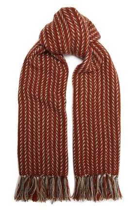 Мужские шарф из кашемира и шелка LORO PIANA оранжевого цвета, арт. FAL2576 | Фото 1