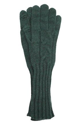 Женские кашемировые перчатки LORO PIANA зеленого цвета, арт. FAI8570 | Фото 1 (Материал: Кашемир, Шерсть)
