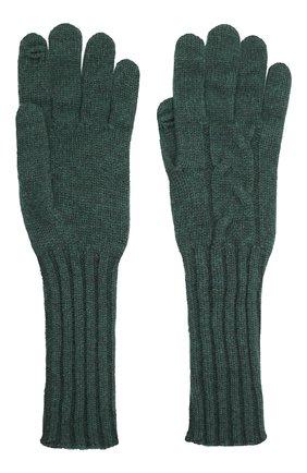 Женские кашемировые перчатки LORO PIANA зеленого цвета, арт. FAI8570 | Фото 2 (Материал: Кашемир, Шерсть)