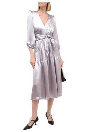 Женское платье PHILOSOPHY DI LORENZO SERAFINI серого цвета, арт. A0452/5719 | Фото 2
