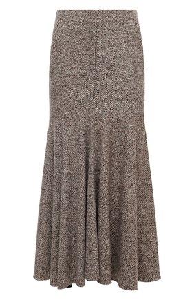 Женская юбка из шерсти и шелка PETAR PETROV коричневого цвета, арт. R0NLY F20R13 | Фото 1