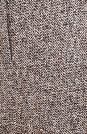 Женская юбка из шерсти и шелка PETAR PETROV коричневого цвета, арт. R0NLY F20R13 | Фото 5 (Материал внешний: Шерсть; Женское Кросс-КТ: Юбка-одежда; Длина Ж (юбки, платья, шорты): Макси; Материал подклада: Купро; Стили: Кэжуэл)