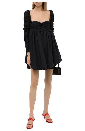 Женское хлопковое платье KHAITE черного цвета, арт. 5149108/SUEANNE   Фото 2