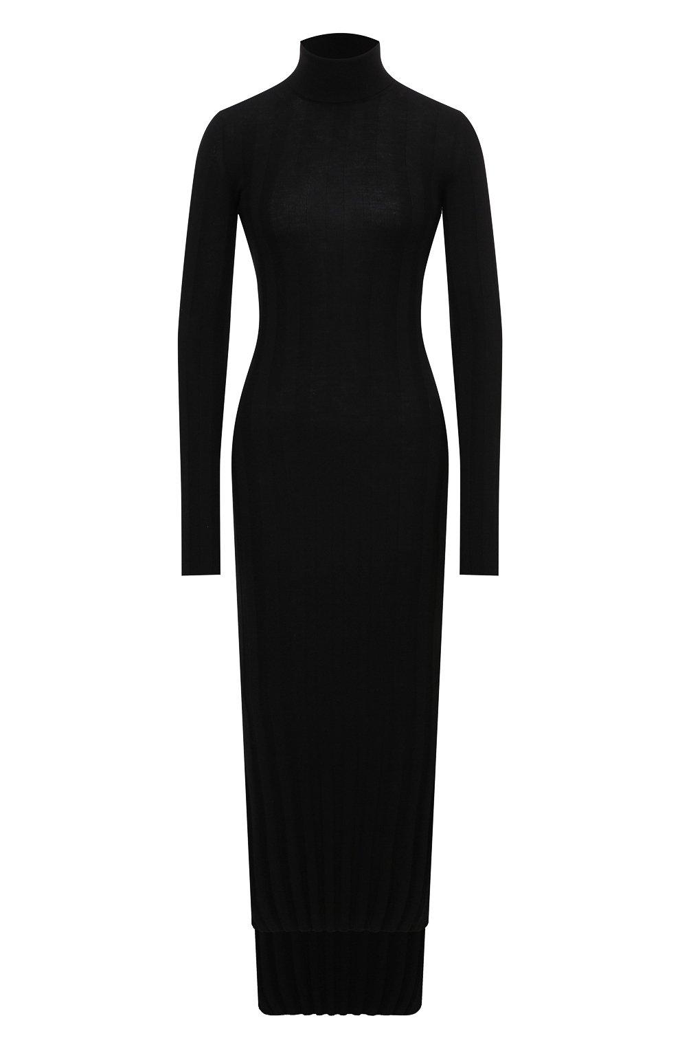 Женское шерстяное платье KHAITE черного цвета, арт. 8452500/CARME   Фото 1