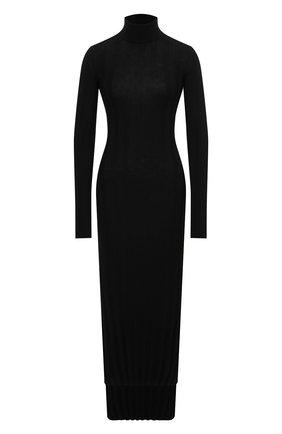 Женское шерстяное платье KHAITE черного цвета, арт. 8452500/CARME | Фото 1