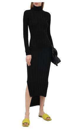 Женское шерстяное платье KHAITE черного цвета, арт. 8452500/CARME   Фото 2