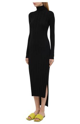 Женское шерстяное платье KHAITE черного цвета, арт. 8452500/CARME   Фото 3
