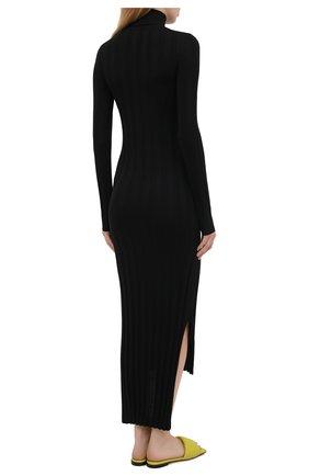 Женское шерстяное платье KHAITE черного цвета, арт. 8452500/CARME   Фото 4