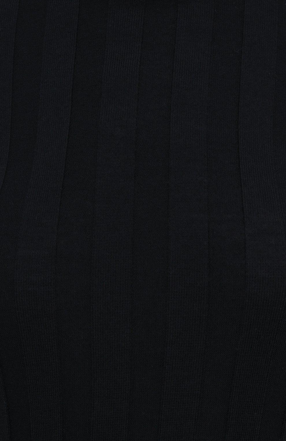 Женское шерстяное платье KHAITE черного цвета, арт. 8452500/CARME   Фото 5
