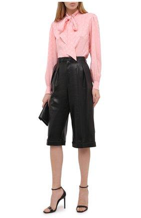 Женские кожаные шорты SAINT LAURENT черного цвета, арт. 636127/Y50A2 | Фото 2