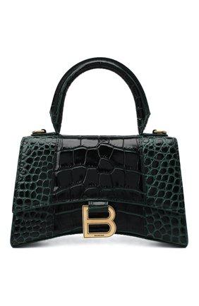 Женская сумка hourglass xs BALENCIAGA зеленого цвета, арт. 592833/1LRGM | Фото 1