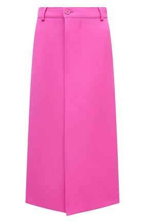Женская шерстяная юбка BALENCIAGA фуксия цвета, арт. 626564/TIU06   Фото 1