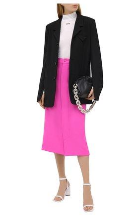 Женская шерстяная юбка BALENCIAGA фуксия цвета, арт. 626564/TIU06   Фото 2