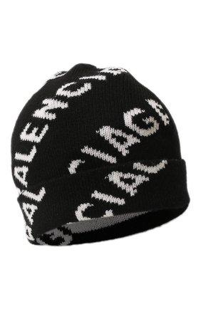 Женская шерстяная шапка BALENCIAGA черного цвета, арт. 633717/T1567 | Фото 1