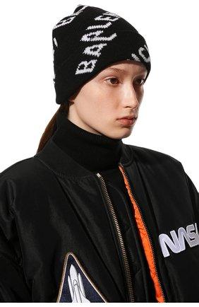 Женская шерстяная шапка BALENCIAGA черного цвета, арт. 633717/T1567 | Фото 2