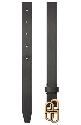 Женский кожаный ремень BALENCIAGA черного цвета, арт. 640450/1CH04 | Фото 2 (Материал: Кожа)