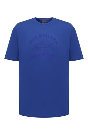 Мужская хлопковая футболка PAUL&SHARK синего цвета, арт. C0P1007/C00/3XL-6XL | Фото 1