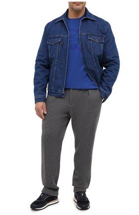 Мужская хлопковая футболка PAUL&SHARK синего цвета, арт. C0P1007/C00/3XL-6XL | Фото 2