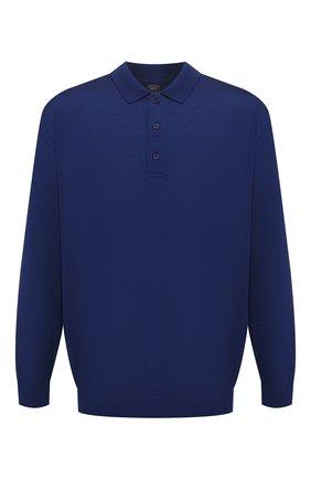 Мужское шерстяное поло PAUL&SHARK синего цвета, арт. C0P1050/FLV/3XL-6XL | Фото 1