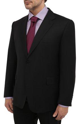 Мужской шерстяной костюм CANALI черного цвета, арт. 11280/10/AA00099/60-64 | Фото 2
