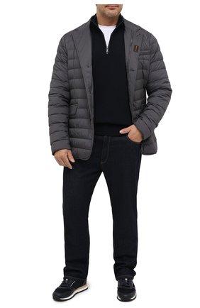Мужская пуховая куртка zavyer-s3 MOORER темно-серого цвета, арт. ZAVYER-S3/A20M360REFL/60-68 | Фото 2 (Рукава: Длинные; Материал подклада: Синтетический материал; Длина (верхняя одежда): Короткие; Материал внешний: Синтетический материал; Мужское Кросс-КТ: Пуховик-верхняя одежда, Верхняя одежда, пуховик-короткий; Big sizes: Big Sizes; Стили: Кэжуэл; Кросс-КТ: Пуховик, Куртка)