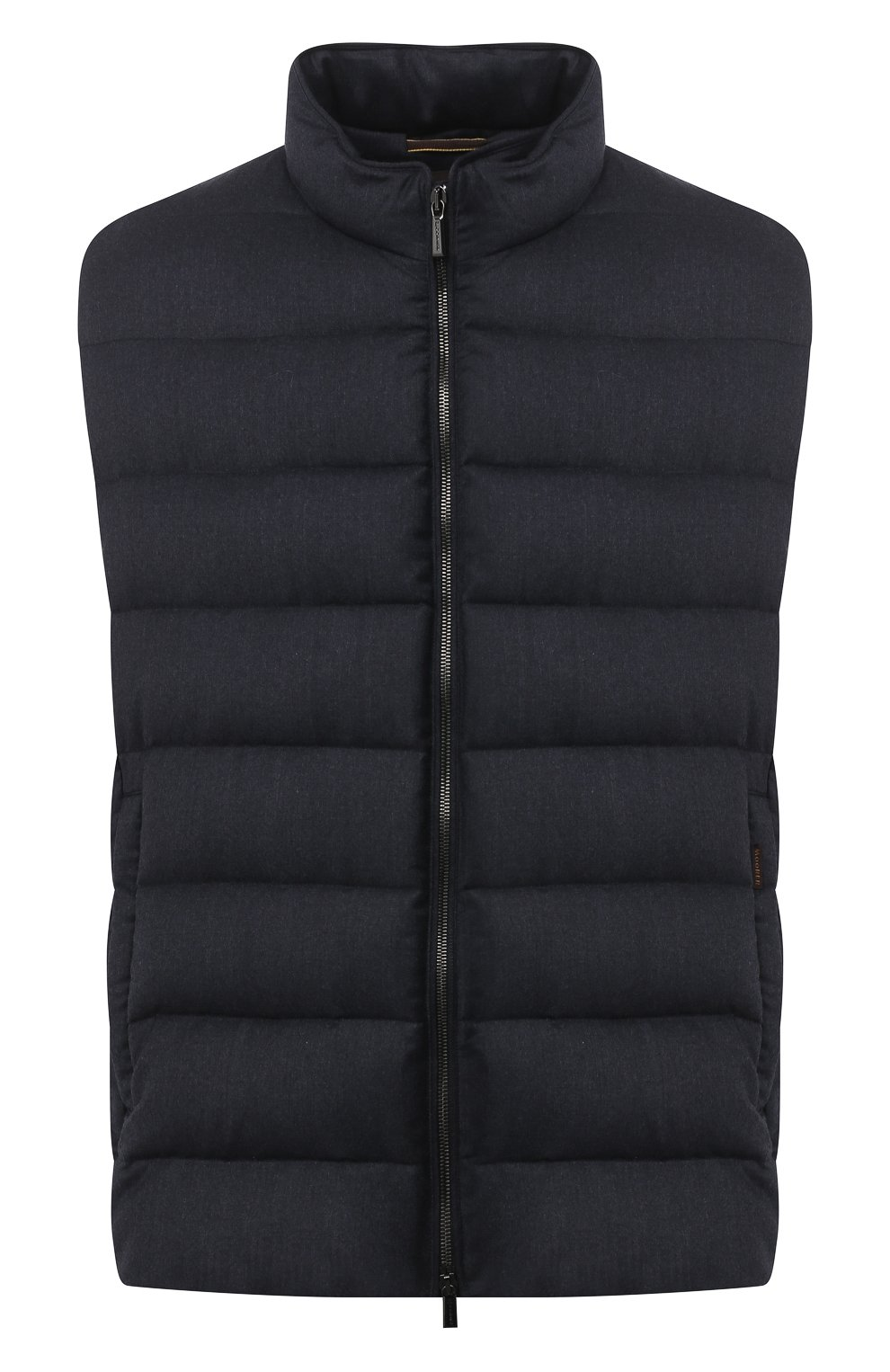 Мужской пуховый жилет oliver-l MOORER синего цвета, арт. 0LIVER-L/A20M160LANA/60-68   Фото 1 (Кросс-КТ: Куртка, Пуховик; Big sizes: Big Sizes; Материал внешний: Шерсть; Материал подклада: Синтетический материал; Мужское Кросс-КТ: Верхняя одежда; Длина (верхняя одежда): Короткие; Стили: Кэжуэл)