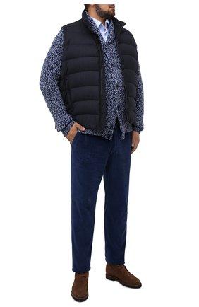 Мужской пуховый жилет oliver-l MOORER синего цвета, арт. 0LIVER-L/A20M160LANA/60-68 | Фото 2