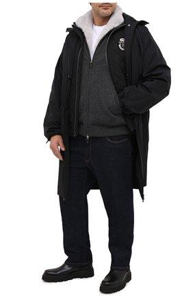 Мужской кашемировый бомбер с подкладкой из меха бобра SVEVO темно-серого цвета, арт. 0140SA20/MP01/2/60-62 | Фото 2