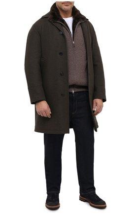 Мужской кашемировый бомбер с подкладкой из меха бобра SVEVO коричневого цвета, арт. 0140SA20/MP01/2/60-62 | Фото 2