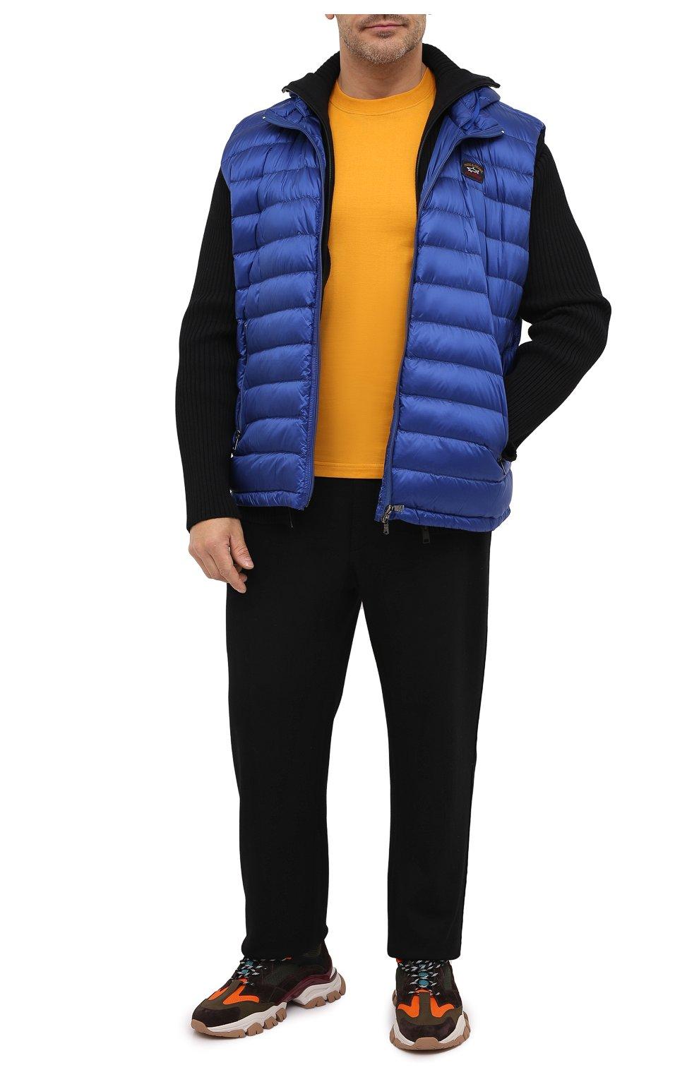 Мужской пуховый жилет PAUL&SHARK синего цвета, арт. C0P2007/GTX/3XL-6XL | Фото 2