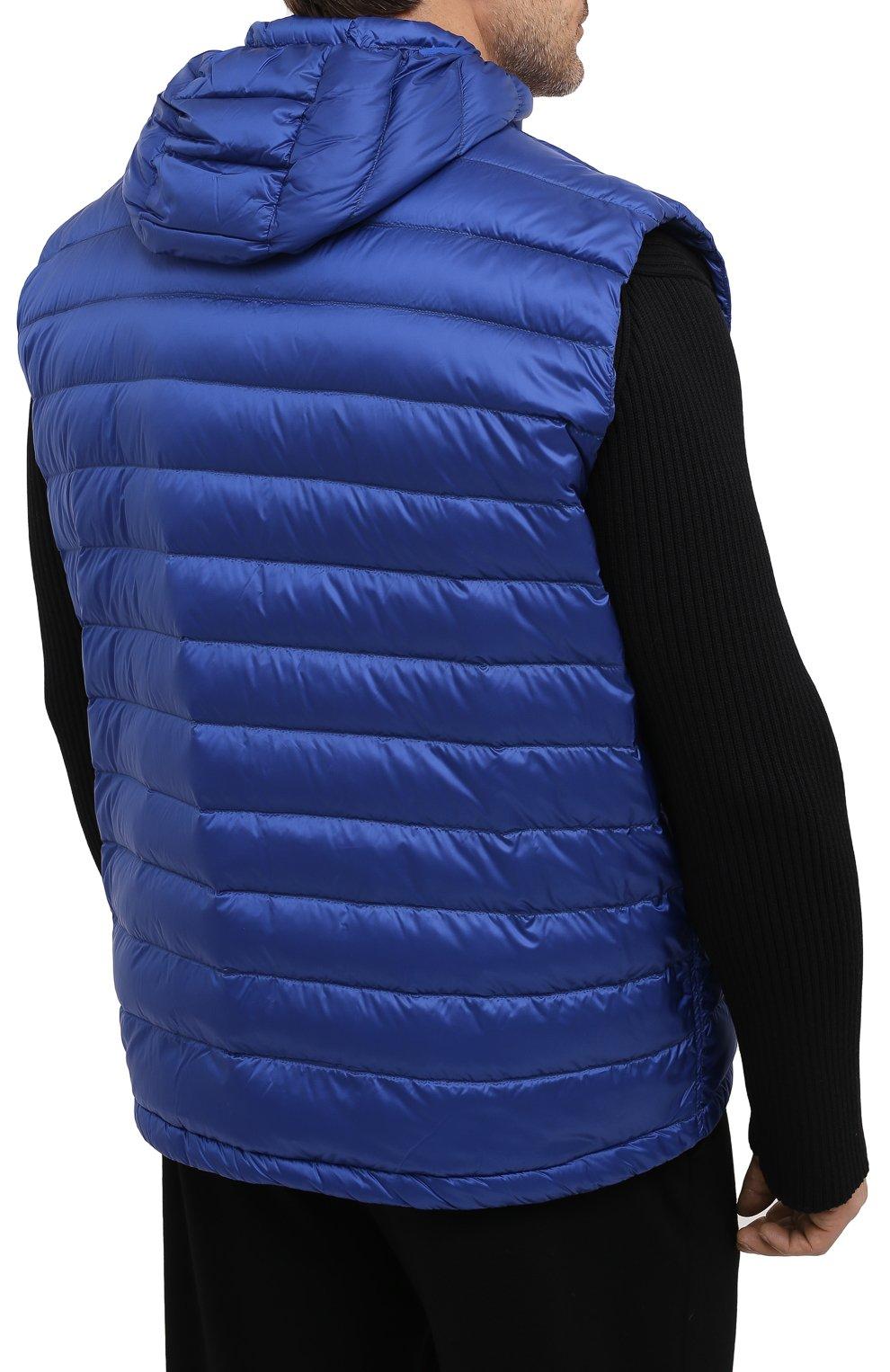 Мужской пуховый жилет PAUL&SHARK синего цвета, арт. C0P2007/GTX/3XL-6XL | Фото 4
