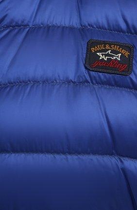 Мужской пуховый жилет PAUL&SHARK синего цвета, арт. C0P2007/GTX/3XL-6XL | Фото 5