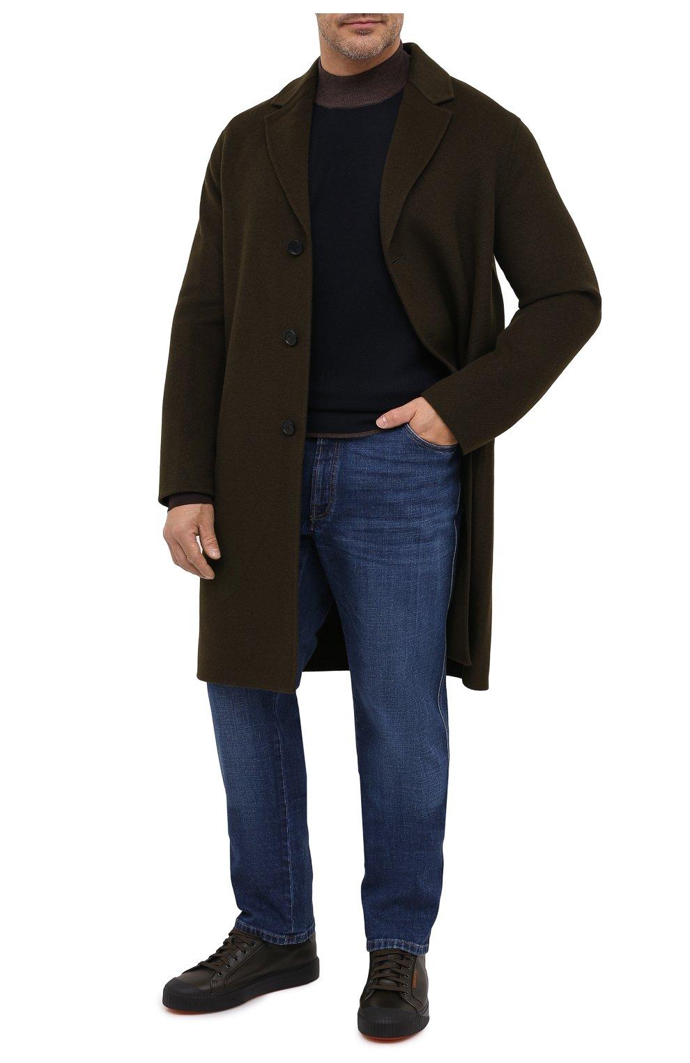 Мужской шерстяная водолазка CORTIGIANI темно-синего цвета, арт. 919107/0200/60-70 | Фото 2 (Big sizes: Big Sizes; Материал внешний: Шерсть; Рукава: Длинные; Принт: Без принта; Длина (для топов): Удлиненные; Мужское Кросс-КТ: Водолазка-одежда; Стили: Кэжуэл)