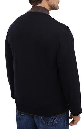 Мужской шерстяная водолазка CORTIGIANI темно-синего цвета, арт. 919107/0200/60-70 | Фото 4 (Big sizes: Big Sizes; Материал внешний: Шерсть; Рукава: Длинные; Принт: Без принта; Длина (для топов): Удлиненные; Мужское Кросс-КТ: Водолазка-одежда; Стили: Кэжуэл)