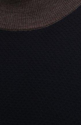 Мужской шерстяная водолазка CORTIGIANI темно-синего цвета, арт. 919107/0200/60-70 | Фото 5 (Big sizes: Big Sizes; Материал внешний: Шерсть; Рукава: Длинные; Принт: Без принта; Длина (для топов): Удлиненные; Мужское Кросс-КТ: Водолазка-одежда; Стили: Кэжуэл)