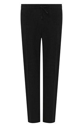 Мужские хлопковые брюки BRIONI черного цвета, арт. RPM20L/09043/NEW SYDNEY   Фото 1