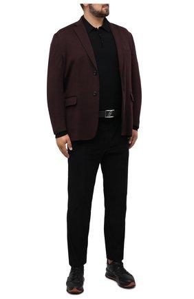 Мужские хлопковые брюки BRIONI черного цвета, арт. RPM20L/09043/NEW SYDNEY   Фото 2
