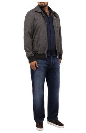 Мужская хлопковая рубашка ZILLI темно-синего цвета, арт. MFU-01801-64036/0001/45-49   Фото 2