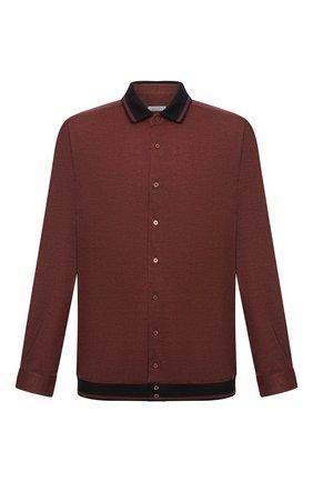 Мужская хлопковая рубашка ZILLI коричневого цвета, арт. MFU-01801-64036/0001/45-49 | Фото 1