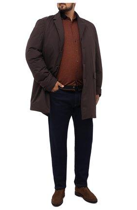 Мужская хлопковая рубашка ZILLI коричневого цвета, арт. MFU-01801-64036/0001/45-49 | Фото 2